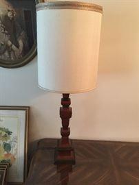 #5wood base lamp, 4' tall  $60.00