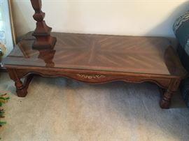 "#4coffee table heavy, wood 55""x24""x15"" $75.00"