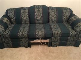 """#3green and burgundy sofa hide-a-bed 90"""" $75.00"""
