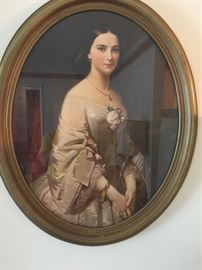 #8oval picture of Southern Belle 32x26 $45.00