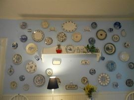 Blue & white plate collection