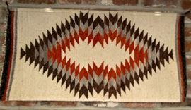 Rug hand woven American Indian