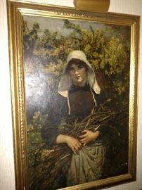 """Annie L. Robinson Swynnerton 1883 """"Woman gathering fagots"""""""