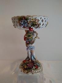 Dresden porcelain compote