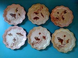 Doulton Burslem fish plates
