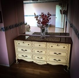 Chest of drawers selling with a matching mirror (not shown)