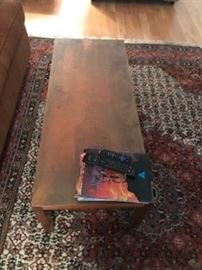 Brass topped table $130