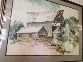 Original water color painting by Carl D. Madsen