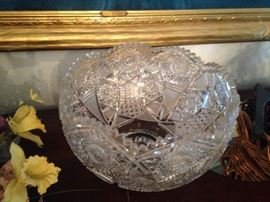 Lots of vintage cut crystal and glass