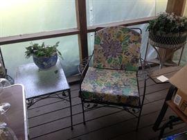 Vintage wrought iron furniture