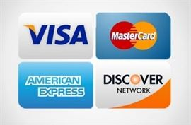 We accept credit & debit cards with no additional fees