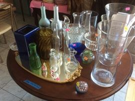 Glassware, some vintage, some current