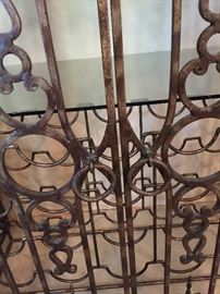 Wrought Iron Cage Style Wine/Liquor Cabinet ~ Front Rings
