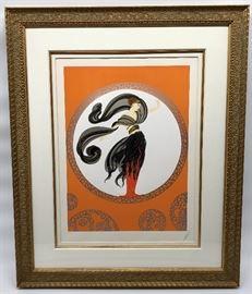 Erte Framed Print  http://www.ctonlineauctions.com/detail.asp?id=734681