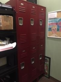 set of lockers