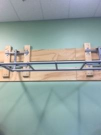 TRX wall mount for multiple trainers