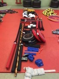 Boxing, chambara equipment, ankle /wrist weights