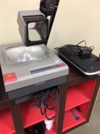 overhead projector, scanner