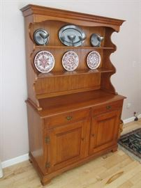 Heywood Wakefield Mid Century Cinnamon Sideboard w Matching Hutch - in two pieces