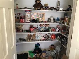 Vintage toys, plus lots of legos.