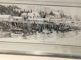 Dockwside in Maine.