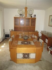 Gangso Mobler Dining room table and buffet