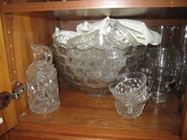 American Fostoria crystal punch bowl