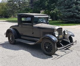 1928 Durant Star Coupe, Survivor, Unrestored, Barn find, only 2 owners