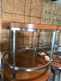 #1	(4) metal and laminate round tables 36x31    $75 ea	 $600.00
