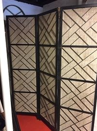 #54 RA misc (2) metal and woven screens w 3 panels 19x72 $100 ea $200.00