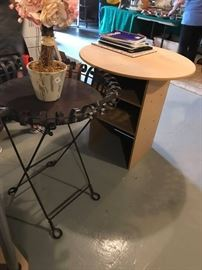 #7	portable metal table w folding base 25x30	 $120.00  #8	portable partical board round table 30x30	 $30.00