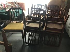 #9	8 dining chairs and 4 part chairs 	 $160.00