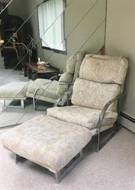 Mid-Century chair & ottoman