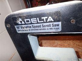 "DE;TA 16"" VARIABLE SPEED SCROLL SAW"