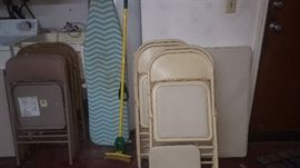 Folding Chairs, Card Table, Ironing Board