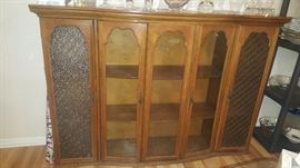 """42 1/2"""" x 65"""" Display/Hutch.  Center Doors have curved glass.  Beautiful piece of furniture!"""