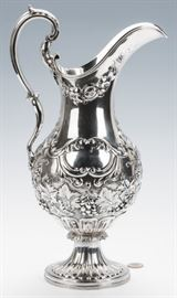 Ball, Black & Tompkins Coin Silver Pitcher