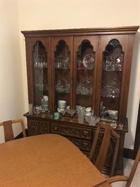 Mid Mod Dining Room Table and Hutch