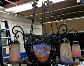 Signed Muller Freres Luneville chandelier