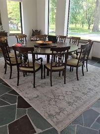 Custom Made Dining Table - Mahogany Finish - 7' round