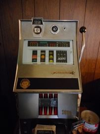 1960's Sega Slot Machine. Coin Operated. .10 Cents. Works.