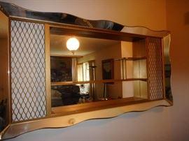 Mid Century Shadow Box Mirror