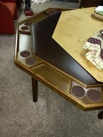 KESTELL FOLDING POKER TABLE WITH DINING TOP