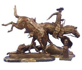Pair of Western Theme Bronzes