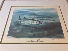 "Millard Wells (1921-2012), American Watercolor Society. Signed and Numbered 7/250. Art Size 18"" x 24"". Frame Size 27"" x 22 1/2""."