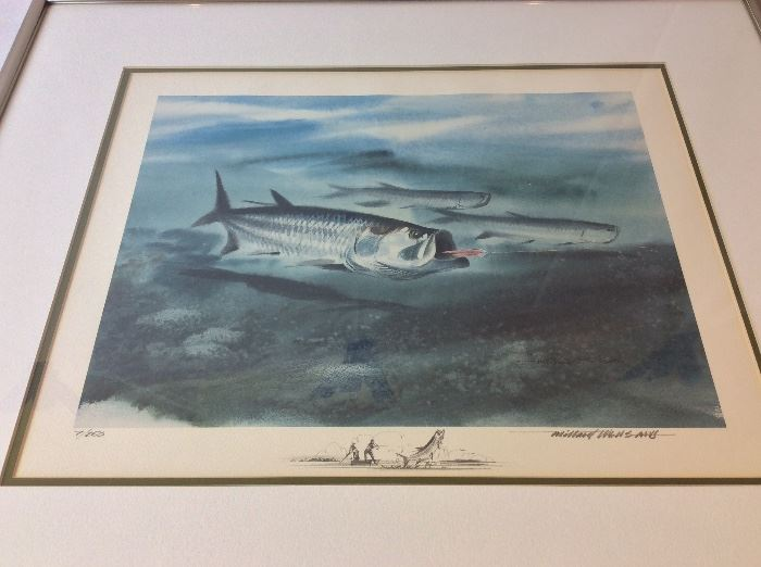 """Millard Wells (1921-2012), American Watercolor Society. Signed and Numbered 7/250. Art Size 18"""" x 24"""". Frame Size 27"""" x 22 1/2""""."""