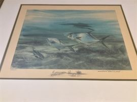 "Millard Wells (1921-2012), American Watercolor Society. Signed and Numbered Print of Permit. 16"" x 12""."