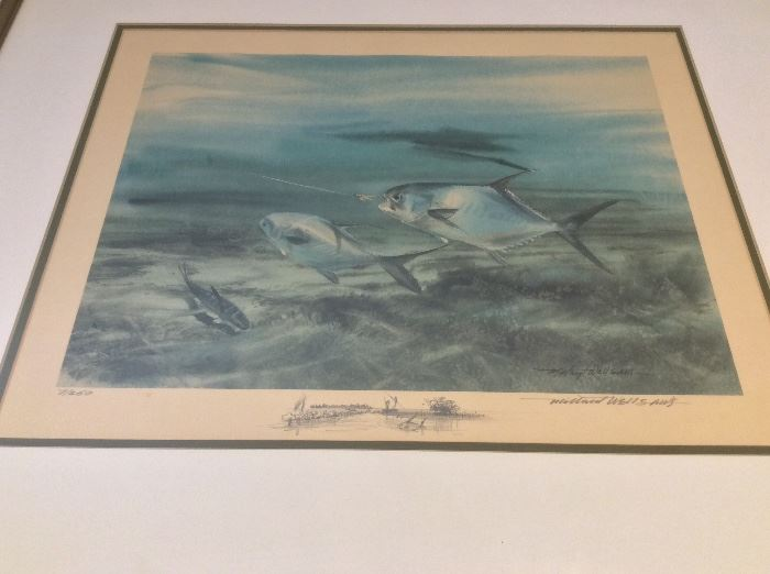 """Millard Wells (1921-2012), American Watercolor Society. Signed and Numbered Print of Permit. 16"""" x 12""""."""