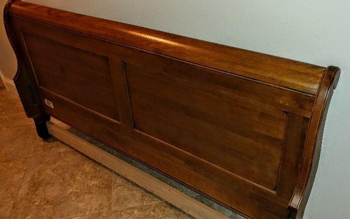 Vintage sleigh bed headboard