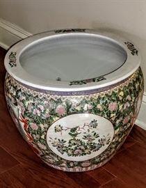 Large Asian planter pot